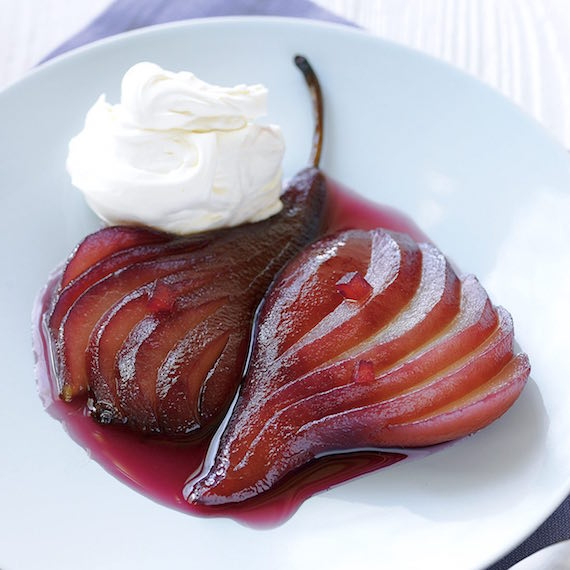 Slow cooked pears